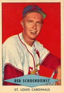 1954 Red Heart Red Schoendienst