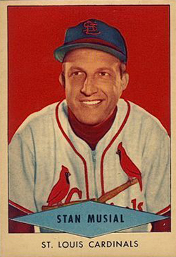 1954 Red Heart Baseball Stan Musial