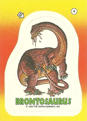 1988 Topps Dinosaurs Attack Trading Cards 22