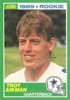 Troy Aikman Cards and Memorabilia Guide