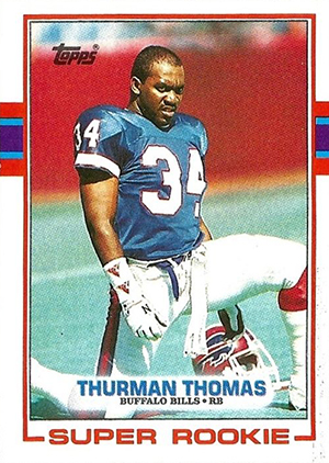 1989 Topps Football Thurman Thomas RC