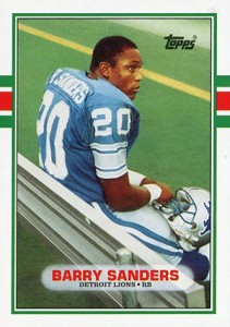 Top Barry Sanders Football Cards Rookie Cards