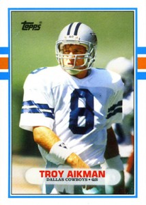 1989 Topps Traded Football Troy Aikman