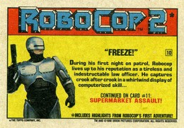 1990 Topps Robocop 2 Trading Cards 2