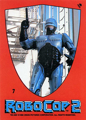 1990 Topps Robocop 2 Trading Cards 22