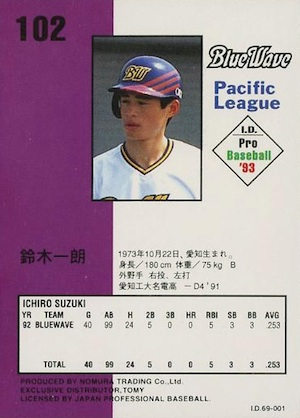 Top 10 Japanese Ichiro Cards to Collect 8