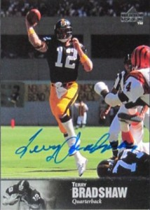 1997 Upper Deck Legends Terry Bradshaw Autograph
