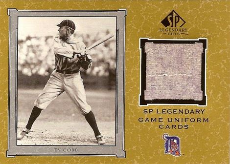 2001 SP Legendary Cuts Ty Cobb GU