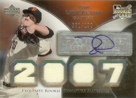Tim Lincecum Cards, Rookie Cards and Autographed Memorabilia Guide 2