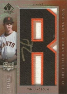 Tim Lincecum Cards, Rookie Cards and Autographed Memorabilia Guide 1