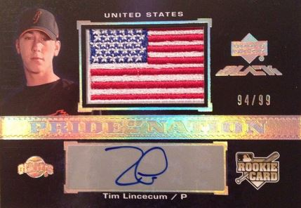 Tim Lincecum Cards, Rookie Cards and Autographed Memorabilia Guide 3