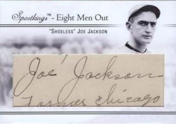 2009 Sport Kings Shoeless Joe Jackson Cut Signature Front
