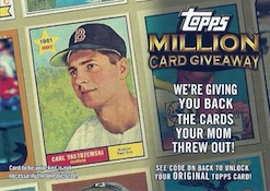2010 Topps Series 1 Baseball Million Card Giveaway Image
