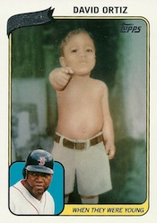 2010 Topps Series 1 Baseball When They Were Young Image