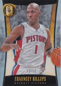 2013-14 Panini Gold Standard Chauncey Billups Base Platinum Parallel