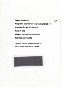 2013-14 Panini Gold Standard Rookie Jersey Autographs Guide 4