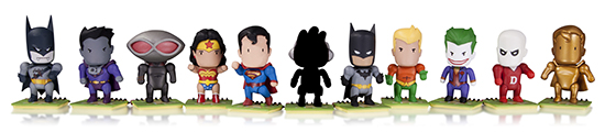 2014 DC Collectibles Scribblenauts Unmasked Series 1 Group Shot