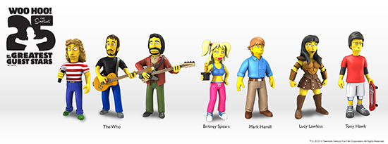 2014 NECA Simpsons 25 of the Greatest Guest Stars Figures Wave 2