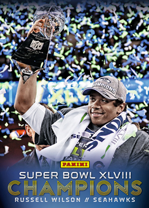 2014 Panini Super Bowl XLVIII Champions Football Cards 7