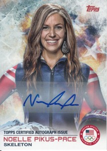 2014 Topps US Olympic Team Autographs 68 Noelle Pikus-Pace