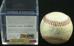 Deion Sanders Signed Baseball