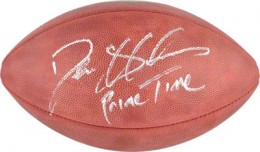 Deion Sanders Signed Football