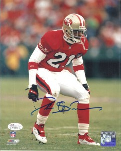 Deion Sanders Signed Football Photo
