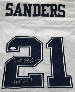 Deion Sanders signed Football Jersey