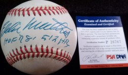 Eddie mathews Signed Baseball