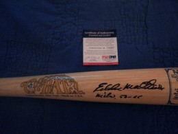Eddie mathews Signed Bat