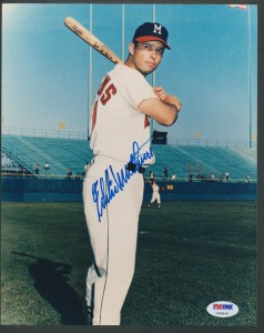 Eddie mathews Signed photo