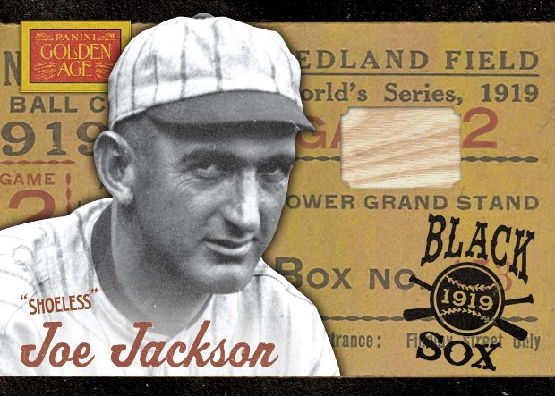2012 Panini Golden Age Black Sox Bats Joe Jackson #1 /99