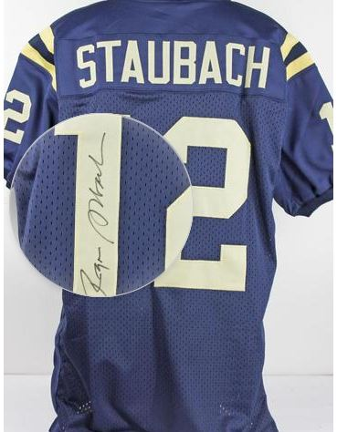 c1aa3079f Roger Staubach Signed Jersey Pricing