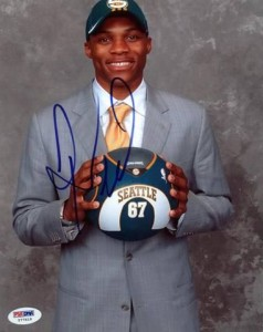 Russell Westbrook Signed Photo