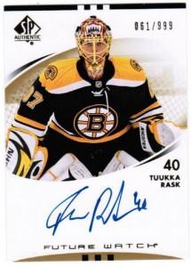 Tuukka Rask Rookie Card Checklist and Autograph Memorabilia Guide 2
