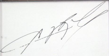 Sugar Ray Leonard Cut Signature