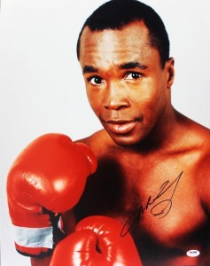 Sugar Ray Leonard Signed Picture