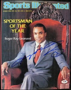 Sugar Ray Leonard Signed SI