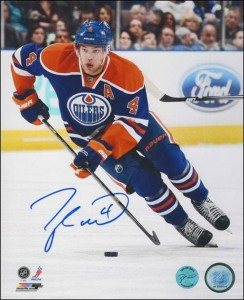 Taylor Hall Signed Photo