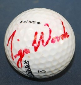 Tiger Woods Signed Golf Ball 2