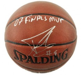 Tony Parker Signed Basketball