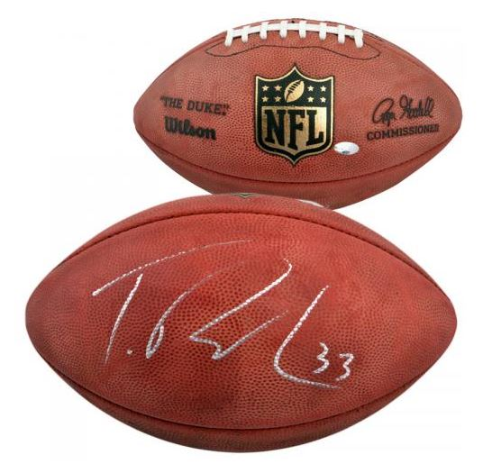 Trent Richardson Autographed Football