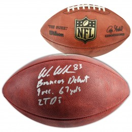 Wes Welker Signed Football