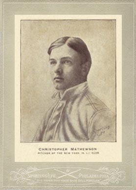 Christy Mathewson Cards and Autograph Guide 1