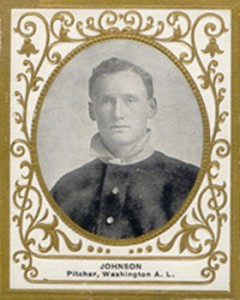 Walter Johnson Cards and Autograph Guide 20