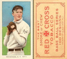 Christy Mathewson Cards and Autograph Guide 23