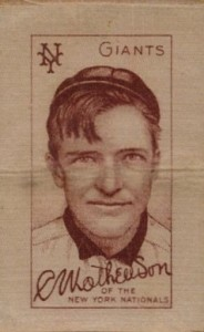 Christy Mathewson Cards and Autograph Guide 25