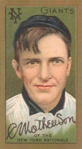 Christy Mathewson Cards and Autograph Guide 26