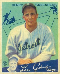 1934 Goudey Hank Greenberg RC