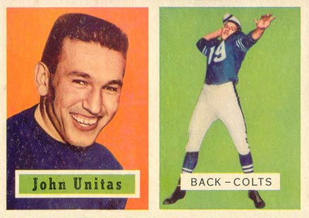1957 Topps Johnny Unitas RC